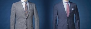Bespoke Tailored Suit created by Colmore Tailors with Dugdale Bros & Co fine Fabric