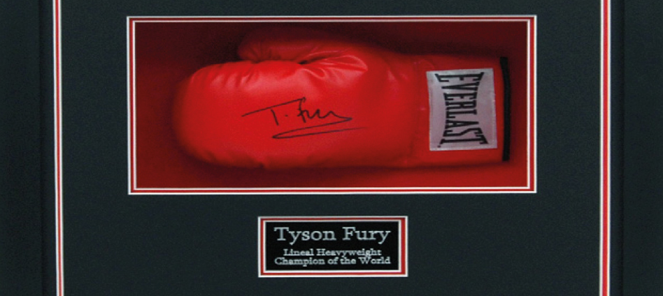 Tyson Fury Signed Glove Display