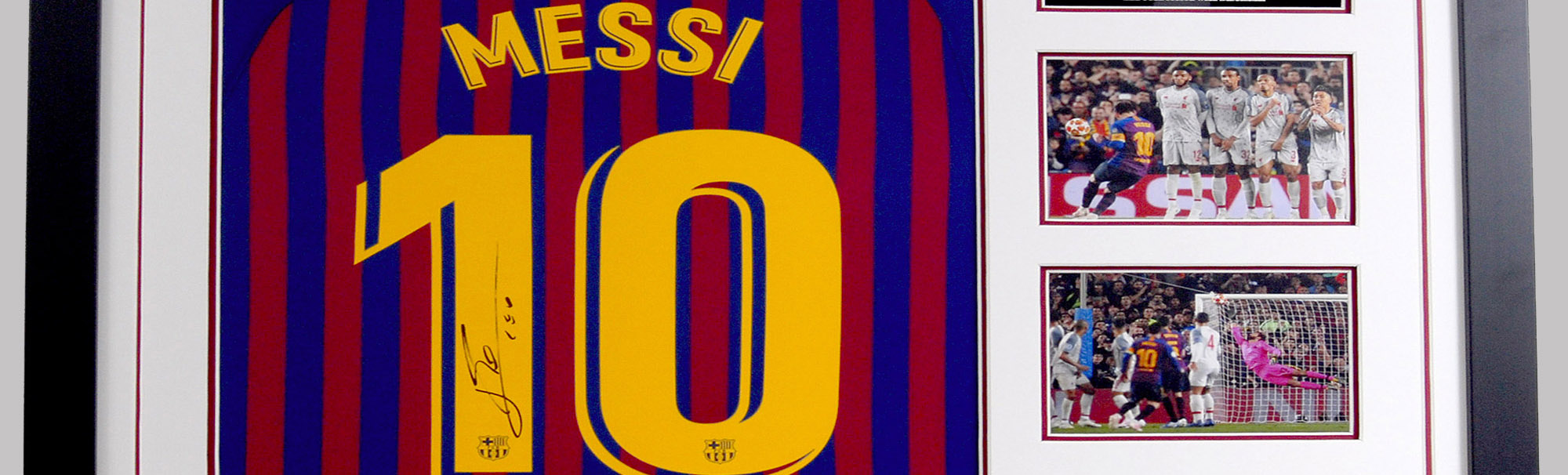 Lionel Messi Signed Display