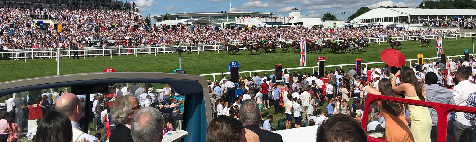 Derby Meeting Epsom Racecourse Open Top Bus Experience – Friday (Ladies Day) 5th or Saturday (Derby Day) 6th June 2020