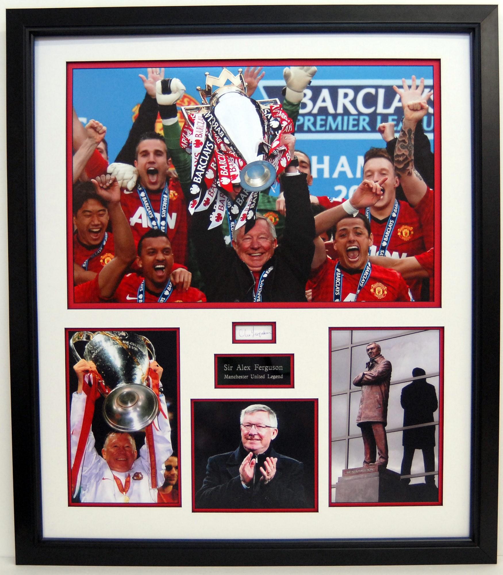 Sir Alex Ferguson Signed Display